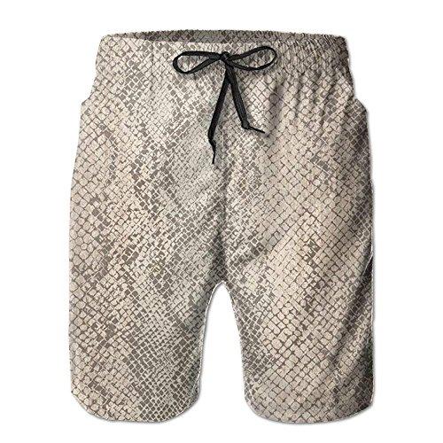 Nude Snake Skin Texture Badehose für Herren Coole Badehose für draußen mit 2XL Taschen