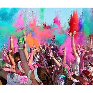 HOLI Colored Powder Festivals Celebrations Parties, Orange color Powder 500 gram bag