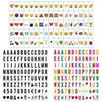 Freeas 293Pcs Colored Emoji Letters Symbols Lightbox Glyph Card Pack, Special Decorative DIY Light Up Signs for A4 Cinema Light Box, Light Up Your Life