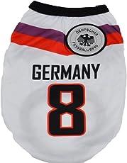 KayMayn Haustier-Trikot Fußball lizenziert Hund Jersey, in 6 Größen, Hundebekleidung, Fußball-T-Shirt, Hundekostüm Fußball-Weltmeisterschaft, Outdoor-Sportbekleidung, Sommer, atmungsaktiv