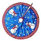 DELEY Weihnachts Neuheit Dekorationen Dekor Plüsch Xmas Baum Rock Christbaumständer Weihnachtsbaumdecke Weihnachtsschmuck Christmas Durchmesser 31.49 Zoll Blau