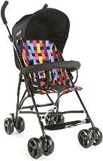 LuvLap Tutti Frutti Baby Stroller Buggy (Printed Black)