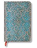 Silberfiligran Kollektion Maya Blau - Notizbuch Mini klassisch Liniert - Paperblanks
