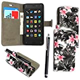 GSD Style Your Mobile {TM} Amazon Fire Phone Karte/Geld Ständer PU Leder Magnetisch Flip Case Cover + Stylus