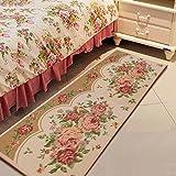 SUNFIRE Peony Matten Teppich rutschfeste Teppich Maschine waschbar für Küche Schlafzimmer Nachttisch Decor Flower Geschenk 45x 119cm