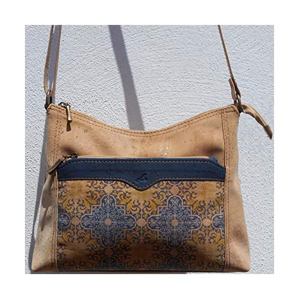 Patterned all cork handbag - handmade-bags