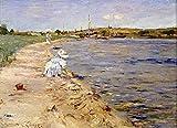 Das Museum Outlet–Beach Scene–Morning zu Kanu Ort, 1896, gespannte Leinwand Galerie verpackt. 29,7x 41,9cm