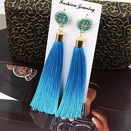 ng Quaste Ohrringe Für Frauen Party Schmuck Zubehör (EIN Paar),Blue ()