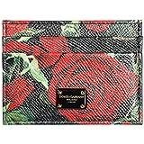 Dolce & Gabbana Kreditkartenetui Echtleder Damen Kreditkarten Geldbörse Schwarz