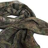 Sports Outdoors Best Deals - IRQ Tactical Military Neck Scarves for Men Camo Knitting Mesh Net Sniper Head Face Veil Wargame Outdoor Sports