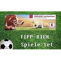 TIPP-KICK Sonderedition Spielfeld, 2 Tore und 2 Torhüter sowie Spielanleitung Kaufland Spiele Set zur Fussball WM 2018