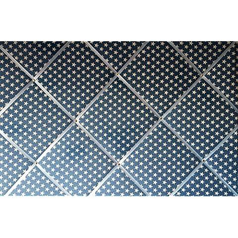 Extra Large 90x 60cm Denim blu bianco