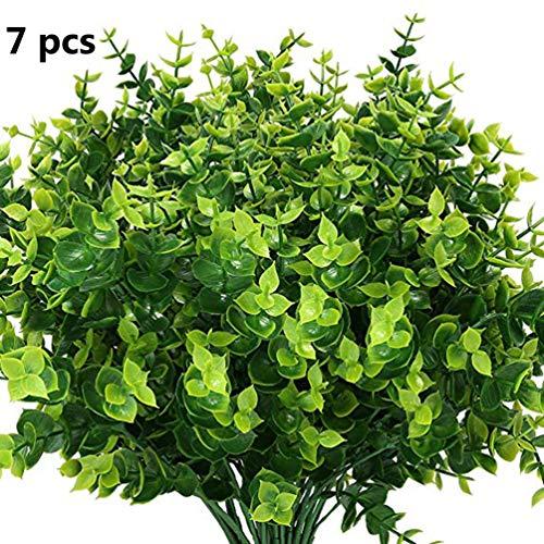 7 Teile/Satz Lebendige Lebensechte Tragbare Faux Pflanzen Gefälschte Pflanzen Wohnkultur Kein Ausbleichen Geruchlos Simuliert Pflanzen Decor