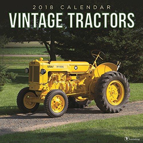 Tractor Pulling Calendario 2020.2018 Vintage Tractors Wall Calendar