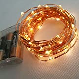 Zalaxie Copper String Light 15M 150 LED 3 AA Battery Operated Decorative String Fairy Lights
