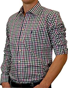 Almsach slim fit Trachtenhemd Chris Bicolor in verschiedenen Farben