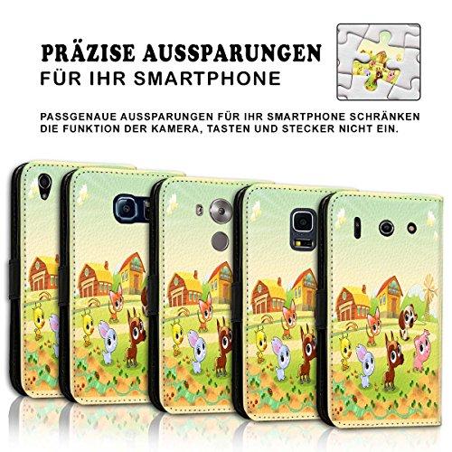 Wallet Book Style Flip Handy Tasche Case Schutz Hülle Schale Motiv Etui für Apple iPhone 5 / 5S - Variante UMV35 Design9 Design 12