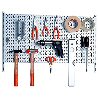 Element System 11300-00000 Metal tool wall plus, 28 piezas, blanco