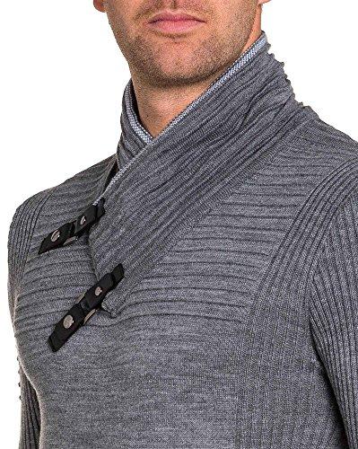 BLZ jeans - Ende geprägt grauen Pullover stricken Mann Grau
