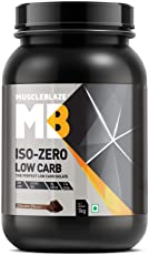 Muscleblaze Iso-zero Low carb 100% Whey Protein Isolate (Chocolate, 1 Kg / 2.2 lb)