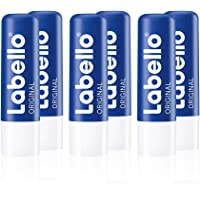 Labello Original - Matita per la cura delle labbra in confezione da 6 (6 x 4,8 g), per labbra naturalmente belle…