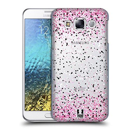 Case + Charm superdünn Polycarbonat Hartschale Back Cover Passt Samsung Galaxy E5s978l Clear Konfetti Pink Star Polka Dots Samsung Pink Transparent Faceplates