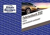 Avery Zweckform 222Cuaderno de viaje para coches (A6horizontal, 40hojas), color blanco