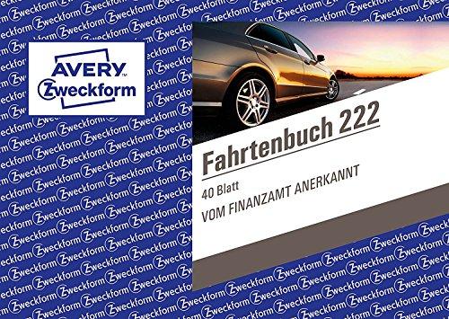 Avery Zweckform 222-5 Fahrtenbuch für PKW, A6 quer, 40 Blatt, weiß (4 er Pack)