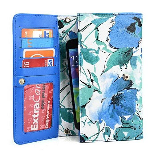 Kroo Pochette Crocodile pour portefeuille et étui pour LG G4Beat/Bello II Multicolore - vert Multicolore - vert