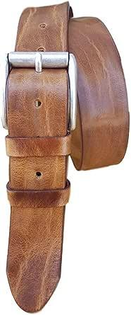 ESPERANTO Cintura vero Cuoio artigianale uomo donna lavorata a mano stropicciata 4 cm accorciabile-nera,moro,marrone