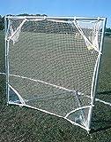 Lacrosse Shot Net w Pockets in White & Blue