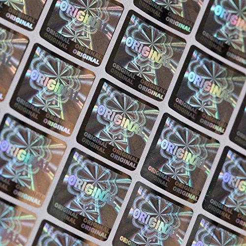 Quadratisch Laser Hologramm Original Label Größe 1.51.5cm Rosenblätter aus viel manipulationssicherer Label Aufkleber -