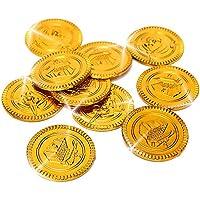 German Trendseller® - 32 Piraten Gold - Münzen ┃ Gold-Taler┃ Piraten Schatz ┃ Piraten Party ┃Seeräuber┃Schatzsuche ┃ Kindergeburtstag