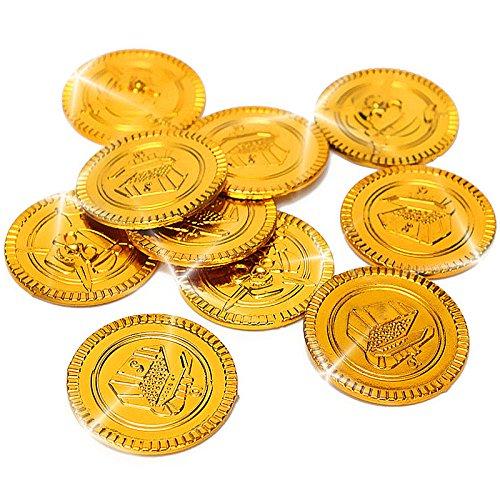 Preisvergleich Produktbild German Trendseller® - 32 Piraten Gold - Münzen  Gold-Taler Piraten Schatz  Piraten Party SeeräuberSchatzsuche  Kindergeburtstag