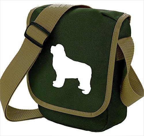 Bag Pixie ,  Unisex Erwachsene Umhängetaschen White Dog Olive Bag