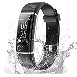 TOOBUR Fitness Armbanduhr, Wasserdicht Fitness Tracker mit Herzfrequenz Schrittzähler Schlafmonitor und Kalorienzähler, Aktivitätstracker Armband Uhr für Damen Herren und Kinder