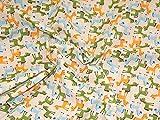 Elfenbeinfarben & Mehrfarbig Cartoon Esel Print Kleid