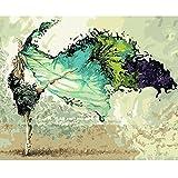 Inovey 40X50Cm Dancer Digital Acrylmalerei DIY Selbst Basteln Paint Kit Home Decor Ohne Rahmen