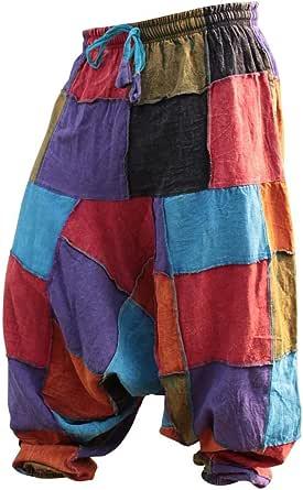 Shopoholic Fashion Pantaloni harem unisex hippy patchwork