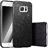 FINOO | Samsung Galaxy S7 Rundum 3 in 1 Glitzer Bling Bling Handy-Hülle | Silikon Schutz-hülle + Glitzer + PP Hülle | Weicher TPU Bumper Case Cover | Schwarz