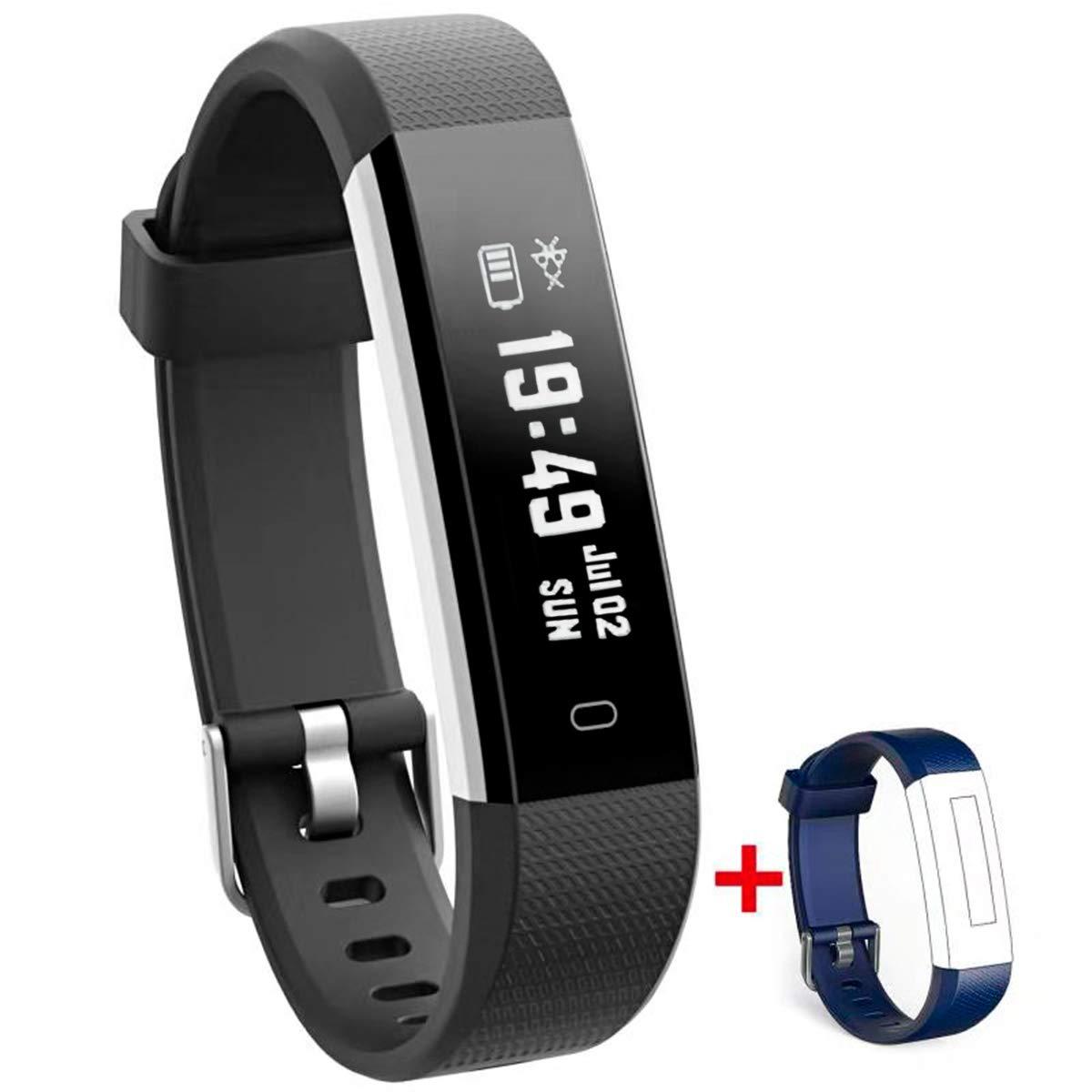 Nakosite RAY2433 Reloj Podometro Pulsera Mujer Hombre de Actividad Inteligente Fitness Tracker, Contador de Calorías… 1