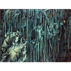Posterlounge Leinwandbild 160 x 120 cm: Diejenigen, die bleiben von Umberto Boccioni/Bridgeman Images - fertiges Wandbild, Bild auf Keilrahmen, Fertigbild auf echter Leinwand, Leinwanddruck
