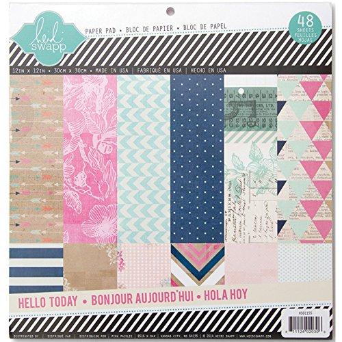 "American Crafts Heidi Swapp Paper Pad 12 x 12 cm, 48 kg, motivo ""Hello"" oggi 2 Each of 24"