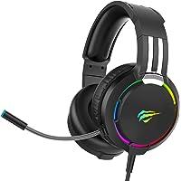 havit Cuffie gaming per PS4 Cuffie da gioco con illuminazione RGBAudio surround, controller 50MM e microfono con…