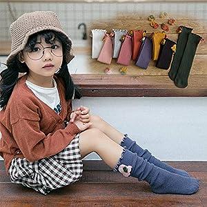 RUOHAN Kinder Socken 5 Paar Kindersocken Herbst Winter Mode Baumwolle Kindersocken Holzohr Mädchen Haufen Socken Baumwoll Babysocken