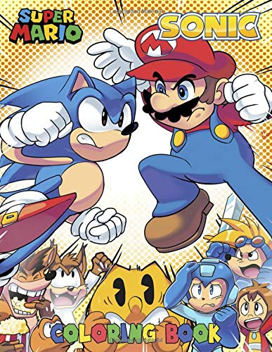 Mario And Sonic Coloring Book Coloring Book For Kids Aged 4 8 Mario And Sonic Coloring Book