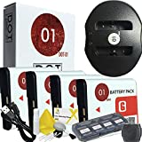 4x DOT-01 Brand 1400 MAh Replacement Sony NP-BG1 Batteries And Dual Slot USB Charger For Sony DSC-W300 Digital Camera And Sony BG1 Accessory Bundle
