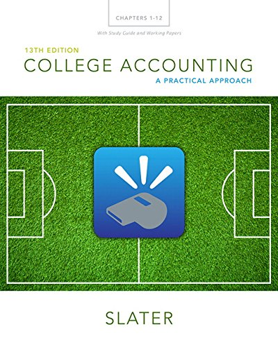 College Accounting Chapters 1-12 with Study Guide and Working Papers por Jeffrey Slater