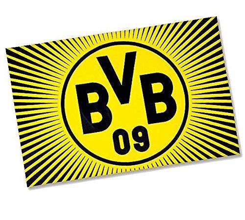 "BVB Borussia Dortmund Fahne /Flagge/ Hissfahne \""Sonne\"" (mit Ösen) 150x100"