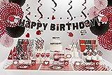 XXL Party Deko Set 1.Geburtstag Kindergeburtstag Marienkäfer rot für 12 Personen (135 teilig) Party Geschirr Set